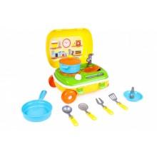 Игровой набор Кухня с набором посуды ТехноК Желтый