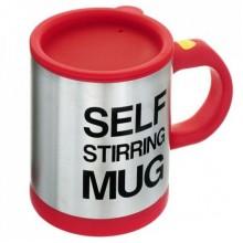 Кружка мешалка чашка Self Stirring Mug 350 мл автоматическая Красная