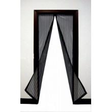 Антимоскитная штора на дверь на магнитах сетка москитная Magic Mesh 210 х 100 см черный
