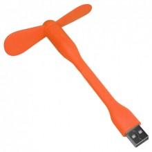 Портативный гибкий USB мини-вентилятор Portable Mini Fan Оранжевый