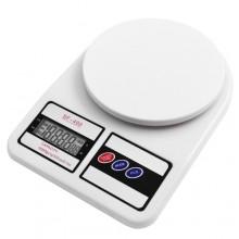 Электронные кухонные весы SF-400 с LCD дисплеем Белые