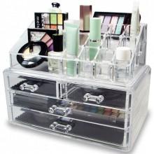 Органайзер для косметики Cosmetic Storage Box Прозрачный