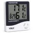 Цифровой термометр гигрометр VIKS с часами и будильником