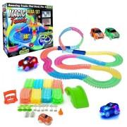 Детский гоночный трек Magic Tracks 360 деталей с LED подсветкой