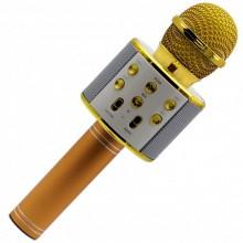Беспроводной микрофон для караоке Wster WS-858 Золотой
