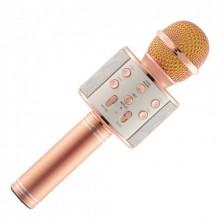 Беспроводной микрофон для караоке Wster WS-858 Розовый