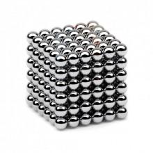 Игрушка магнитная головоломка Neocube 216 шариков 5 мм Серебряная